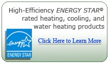 High-Efficiency Energy Star rated heating, cooling and water heating products